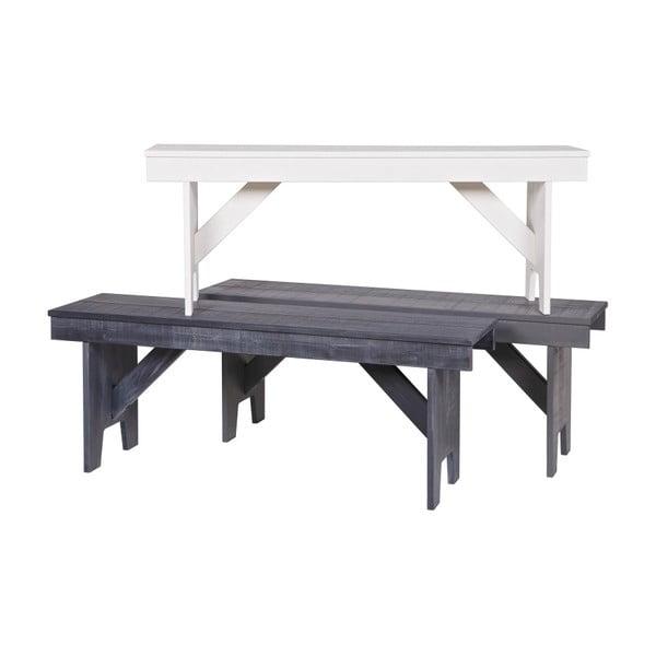 Bílá lavice z borovicového dřeva WOOOD Loet
