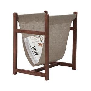 Odkládací stojan na časopisy Linen Couture Warm Grey, šířka 40 cm