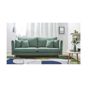 Canapea extensibilă cu 3 locuri Bobochic Triplo, verde