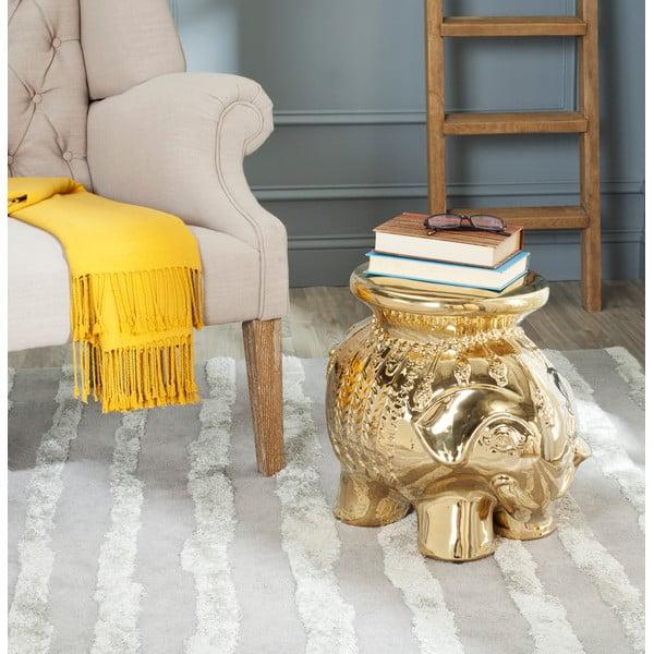 Keramický stolek Capri, zlatý
