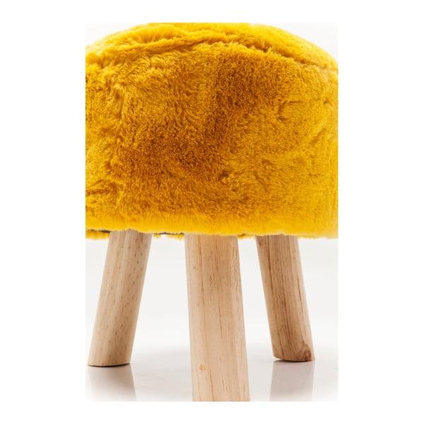 Žlutá stolička Kare Design Sun
