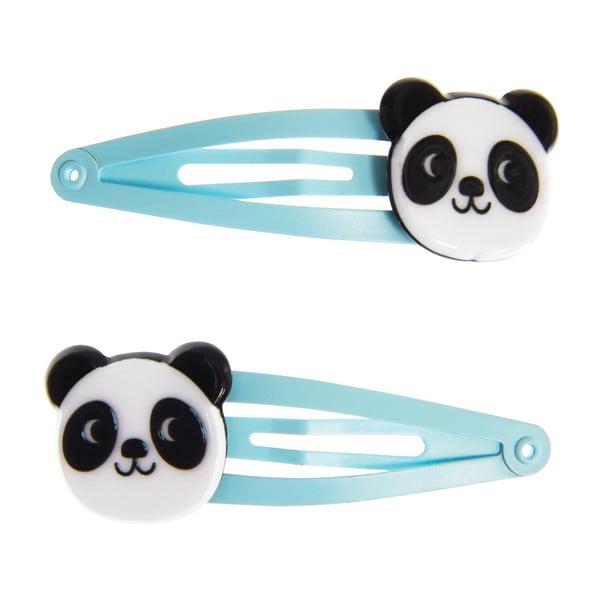 Sada 4 dětských sponek do vlasů Rex London Miko the Panda