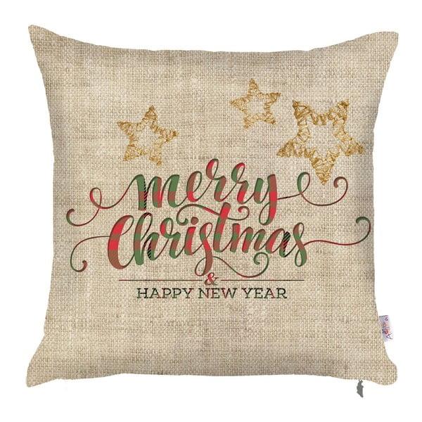 Vianočná obliečka na vankúš Apolena Honey XMas, 43×43 cm