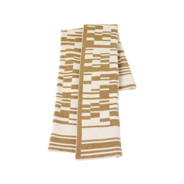 Vlněná deka 130x160 cm, světle hnědá