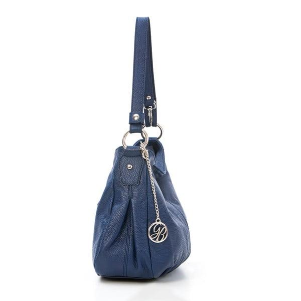 Kožená kabelka Stefano, tmavě modrá