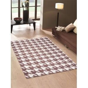 Vysoce odolný kuchyňský koberec Webtappeti Pied de Poule Brown,60x150cm