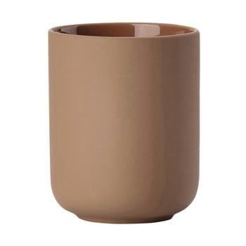Pahar din ceramică pentru periuțele de dinți Zone Ume Amber, maro ambră de la Zone