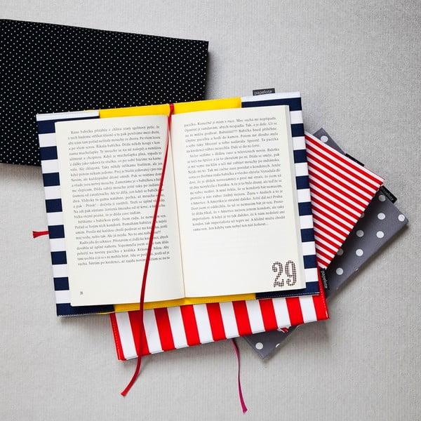 Obal na knihu L, červený puntík