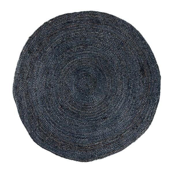 Tmavosivý okrúhly koberec House Nordic Bombay, ø 180 cm