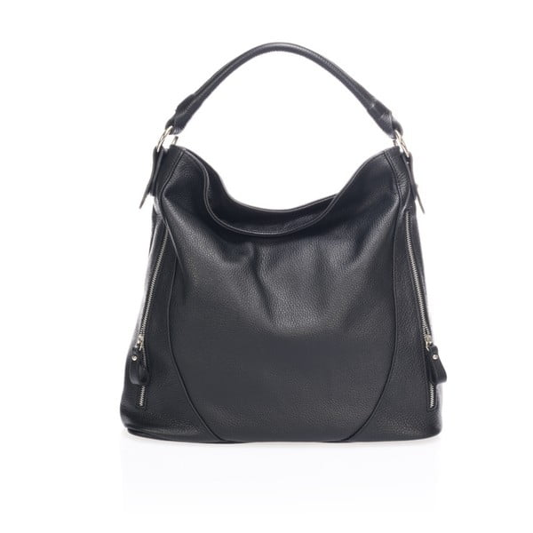 Černá kožená kabelka Markese Heross