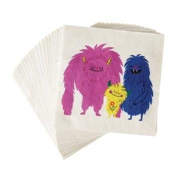 Set 20 șervețele din hârtie Rex London Monsters Of The World de la Rex London