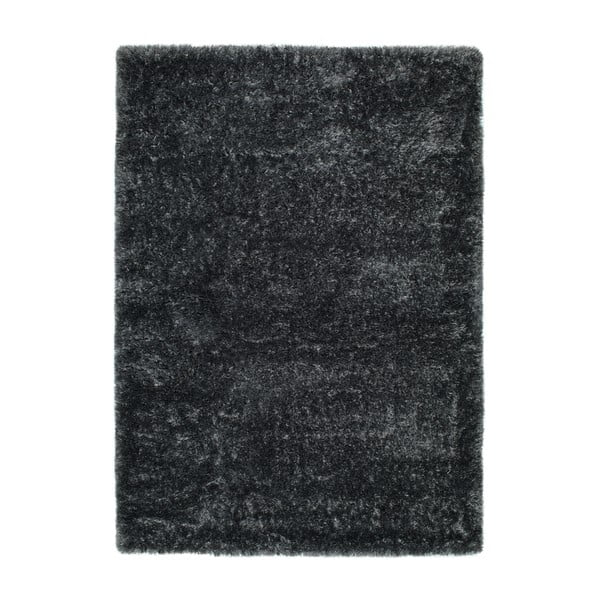 Antracitově šedý koberec Universal Aloe Liso, 60x120cm