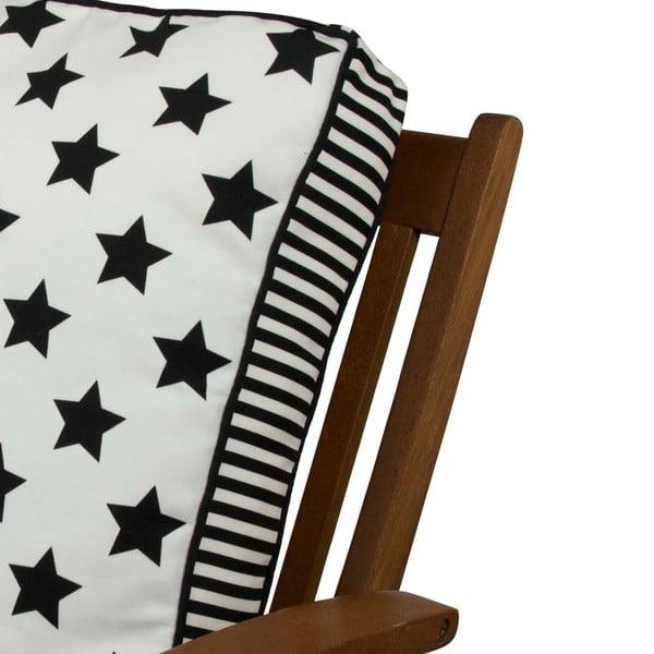 Pernă pentru scaun Gravel Star Sky W&B, 42x42cm,cuumplutură