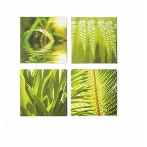 Set 4 tablouri Graham & Brown Green Leaf Quad
