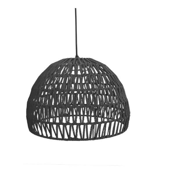 Rope fekete függőlámpa, ⌀ 50 cm - LABEL51