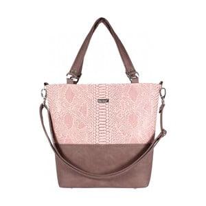 Růžovo-béžová kabelka Dara bags Lele No.579