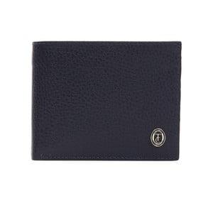 Modrá pánská kožená peněženka Trussardi Pickpocket, 12,5 x 9,5 cm