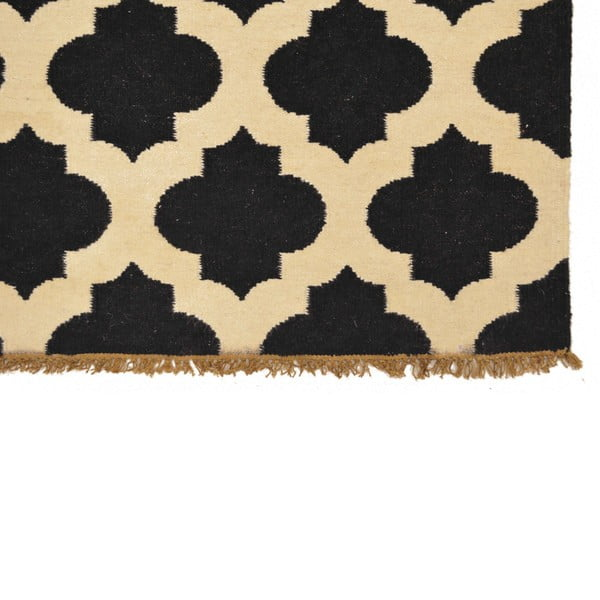 Ručně tkaný koberec Black and White, 120x180 cm