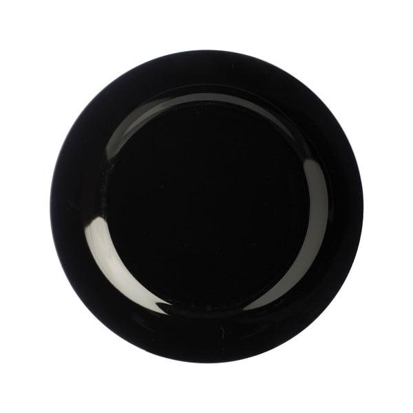 Kameninový talíř Price & Kensington Black Dinner, 21 cm