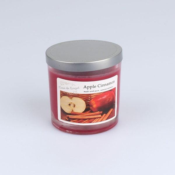 Vonná svíčka s vůní jablko a skořice