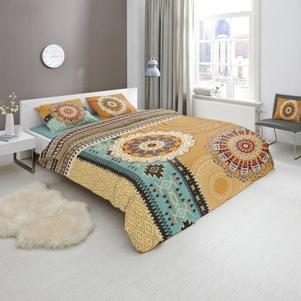 Povlečení z bavlněného saténu na dvoulůžko Muller Textiels Akinye,200x240 cm