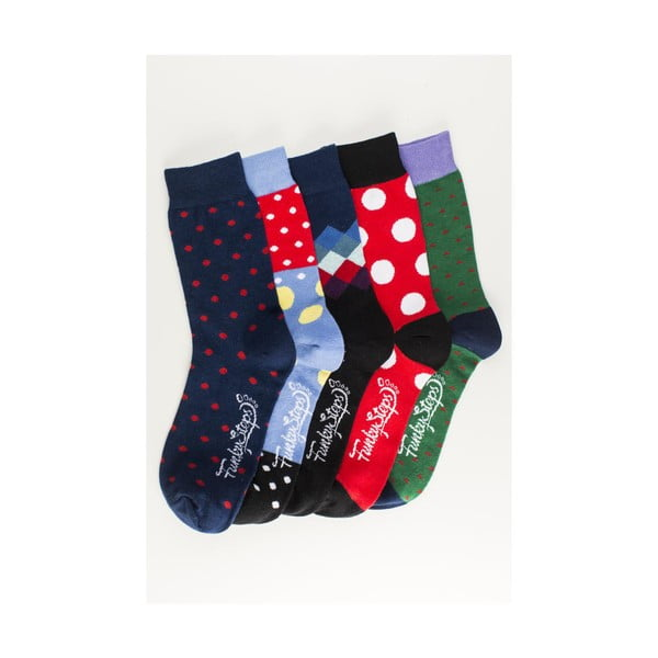 Pět párů ponožek Funky Steps Salvinia, unisex velikost
