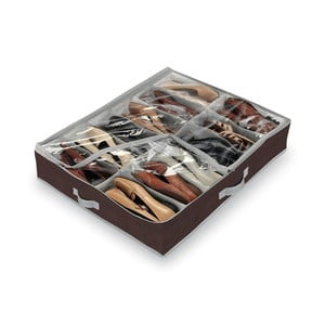 Organizator pantofi cu 12 compartimente Domopak Classic, maro