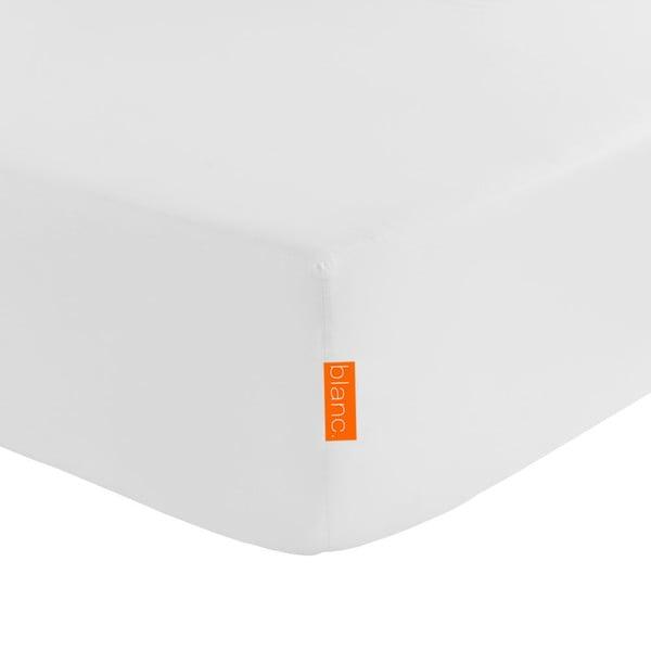 Elastické prostěradlo Blanc Basic White, 180x200 cm