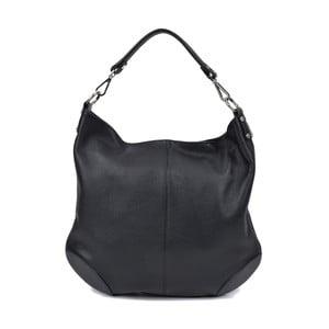 Černá kožená kabelka Roberta M Pessio