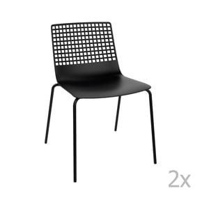 Sada 2 černých  zahradních židlí Resol Wire