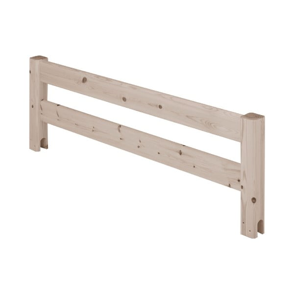 Hnědá bezpečnostní zábrana z borovicového dřeva k posteli Flexa Classic, délka116cm