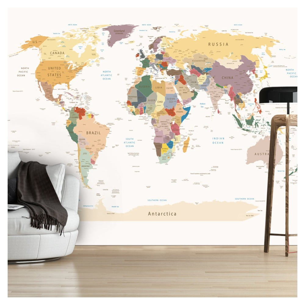 Velkoformátová tapeta Bimago World Map 300 x 210 cm