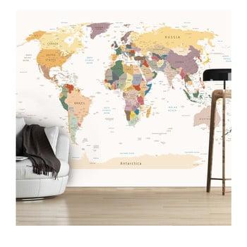 Tapet Format Mare Artgeist World Map, 300 X 210 Cm