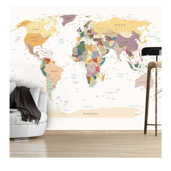 Tapet format mare Bimago World Map, 300 x 210 cm