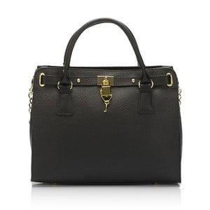Černá kožená kabelka Giulia Massari Clemency
