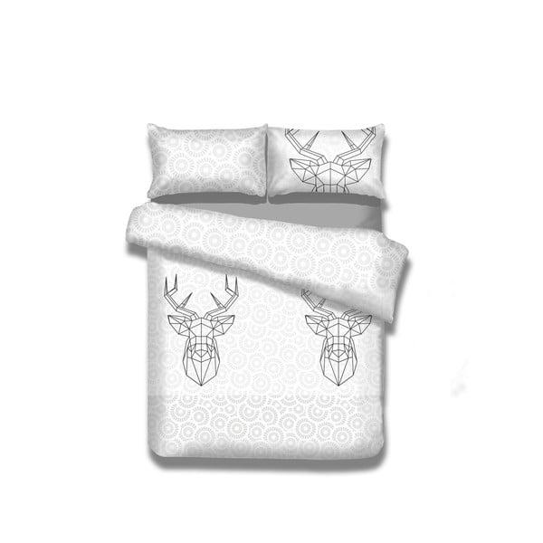 Flanelové obliečky na dvojlôžko AmeliaHome My Deer Friend, 200 x 200 cm