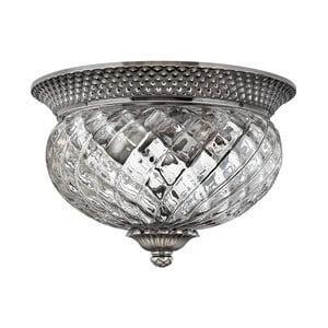 Stropní svítidlo ve stříbrné barvě Elstead Lighting Plantation Dos Flush