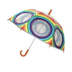 Transparentní deštník Rainbow All Around