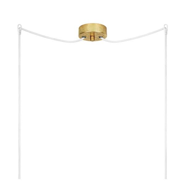 Dvojité svítídlo Dosei Elementary, opal matte/gold/white/gold