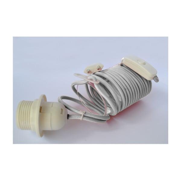 Textilní elektrický kabel Earth Friendly, šedý