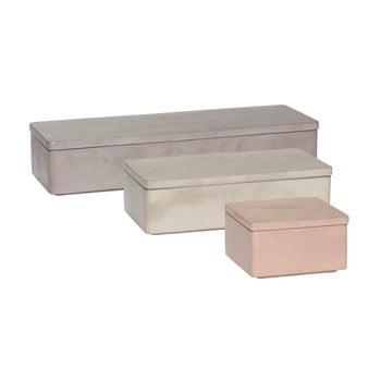Set 3 cutii depozitare din beton Hübsch Skuddag