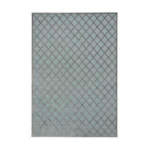 Šedo-modrý koberec Mint Rugs Shine Karro, 200 x 300 cm