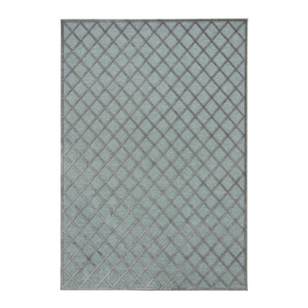 Covor Mint Rugs Shine Karro, 80 x 125 cm, gri - albastru