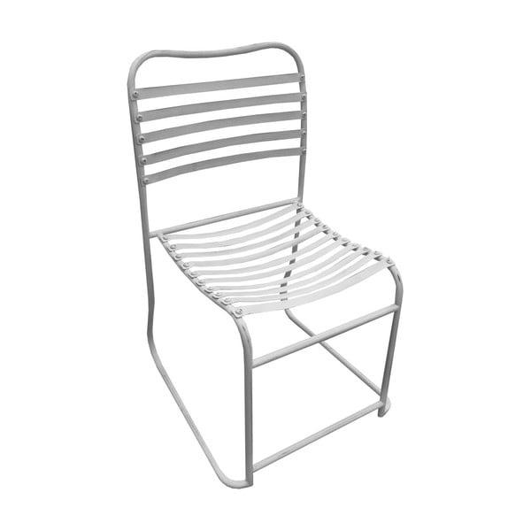 Kovová židle White Iron