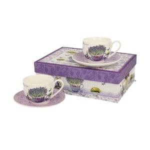 Sada 2 porcelánových šálků na espresso s podšálkyDuo Gift Passion, 90 ml