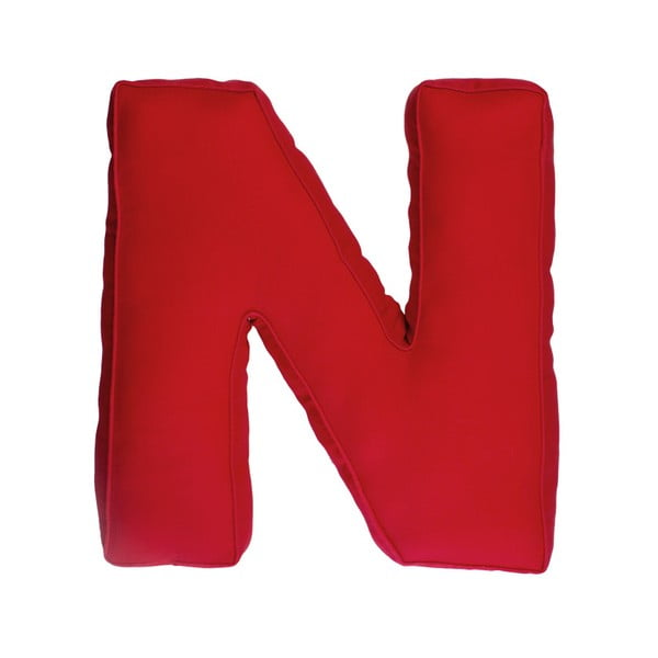 Látkový polštář N, červený