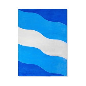 Dětský koberec Mavis Blue Waves, 100x150 cm