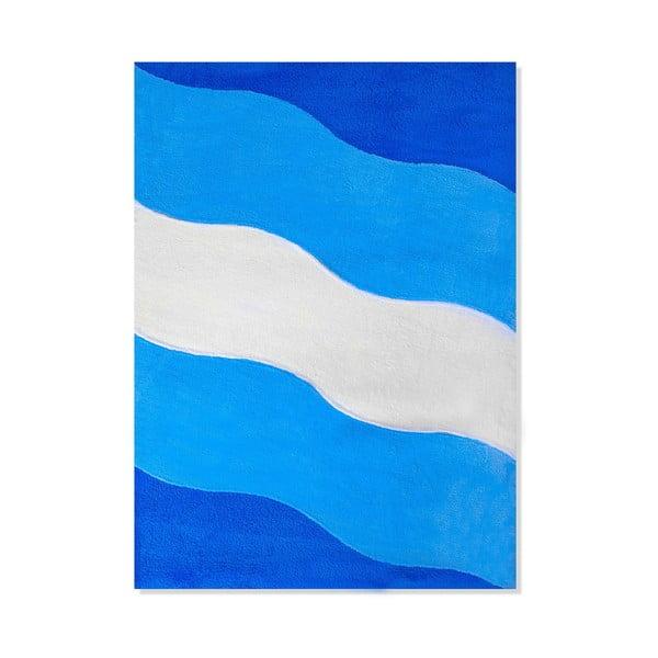 Dětský koberec Mavis Blue Waves, 120x180 cm