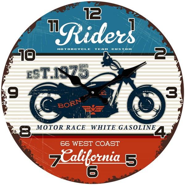 Skleněné hodiny California, 34 cm
