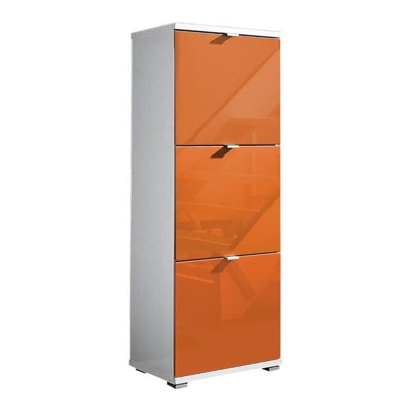 Bílý botník s oranžovými zásuvkami Germania Colorado, výška 132cm